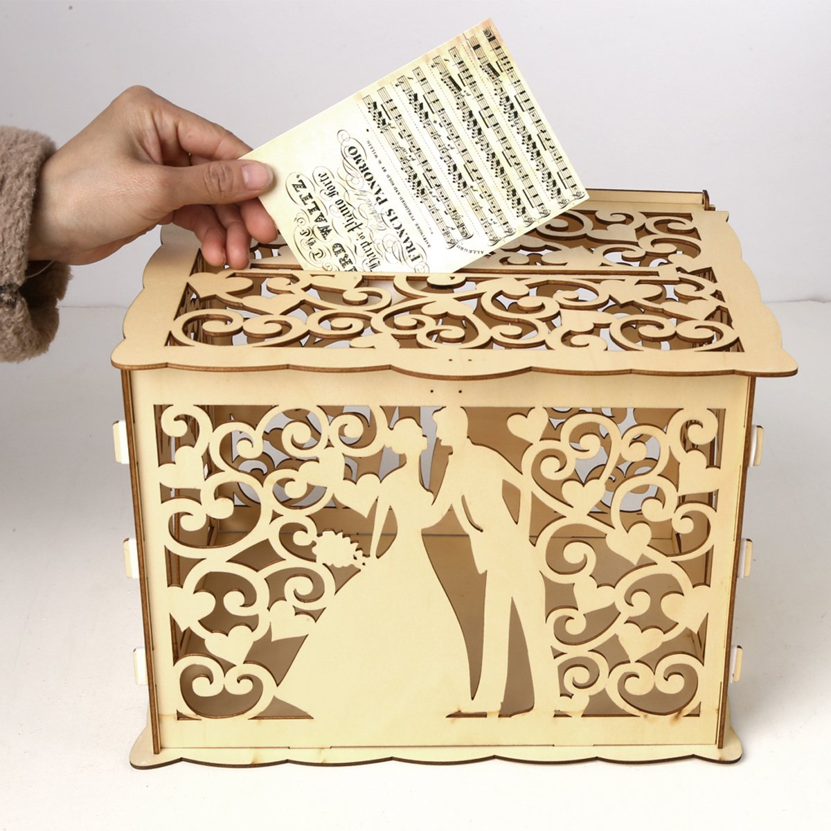 Wedding Card Box With Lock Diy Money Wooden Gift Love Boxes
