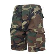 Rothco Men's Camo Tactical BDU Combat Shorts - Woodland, Woodland Camo, Large