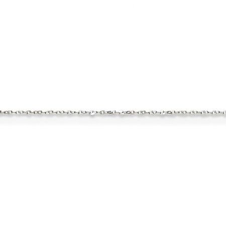 0.5mm 14k White Gold Baby Nuggets Chain Necklace - Length: 16 to 24