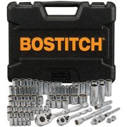 Bostitch 82-Piece Spline Socket Set - Color Rings (1/4, 3/8), BTMT72285
