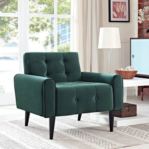 Modway Delve Velvet Tufted Armchair, Multiple Colors by Modway