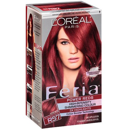 L Oreal Paris Feria Permanent Haircolor R57 Intense Medium Auburn 1 Ea Pack