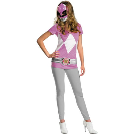 Pink Ranger Alternative Teen Halloween Costume, One Size, 7-9](Forest Ranger Halloween Costume)