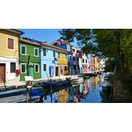 Travel Colorful Europe Italy Burano Venice Poster Print 24 X 36