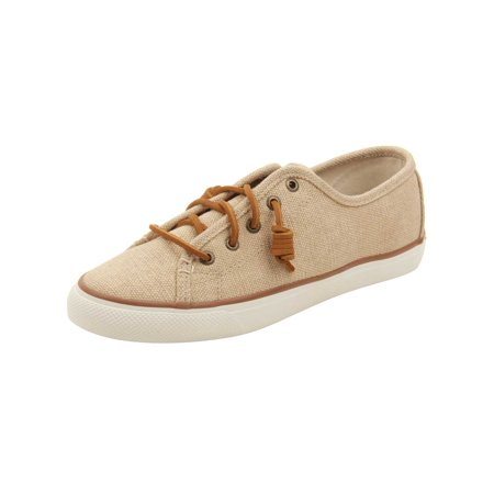 Sperry Womens Seacoast Waxy Canvas Sneakers in - Natural Canvas