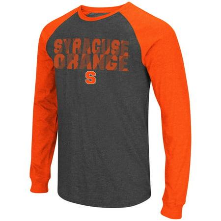 Syracuse Orange Ncaa  Olympus  Long Sleeve Raglan Shirt   Charcoal