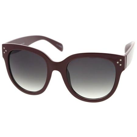 b768a6db5a sunglass.la - Women s Oversize Horn Rimmed Wide Temple Cat Eye Sunglasses  56mm (Tortoise   Amber) - Walmart.com