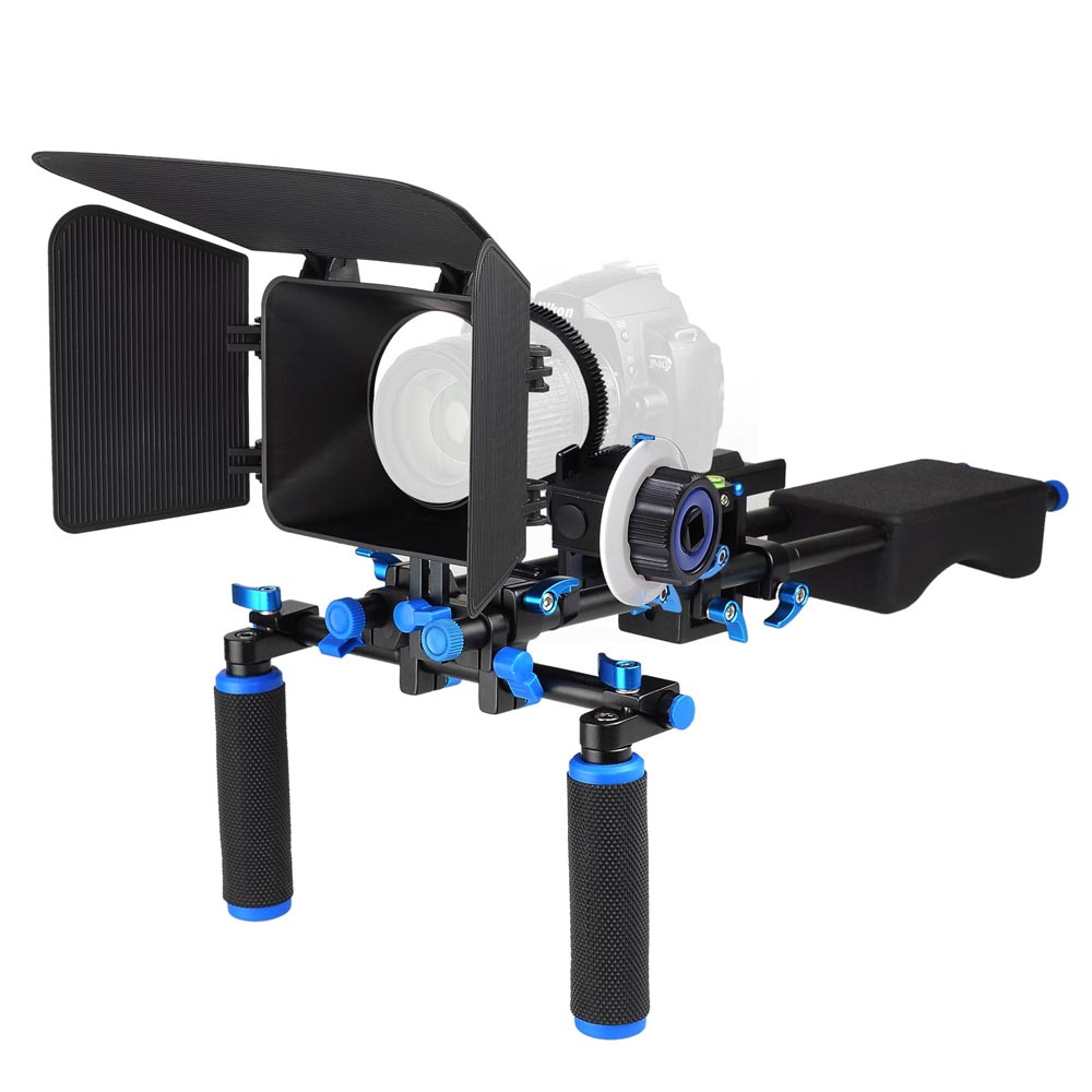 AW Shoulder Mount Support Rig Kit Camera Camcorder Stabil...