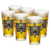 US Marines 16 oz. Pint Glass Once And Always a Marine (Set of 6) by Erazor Bits