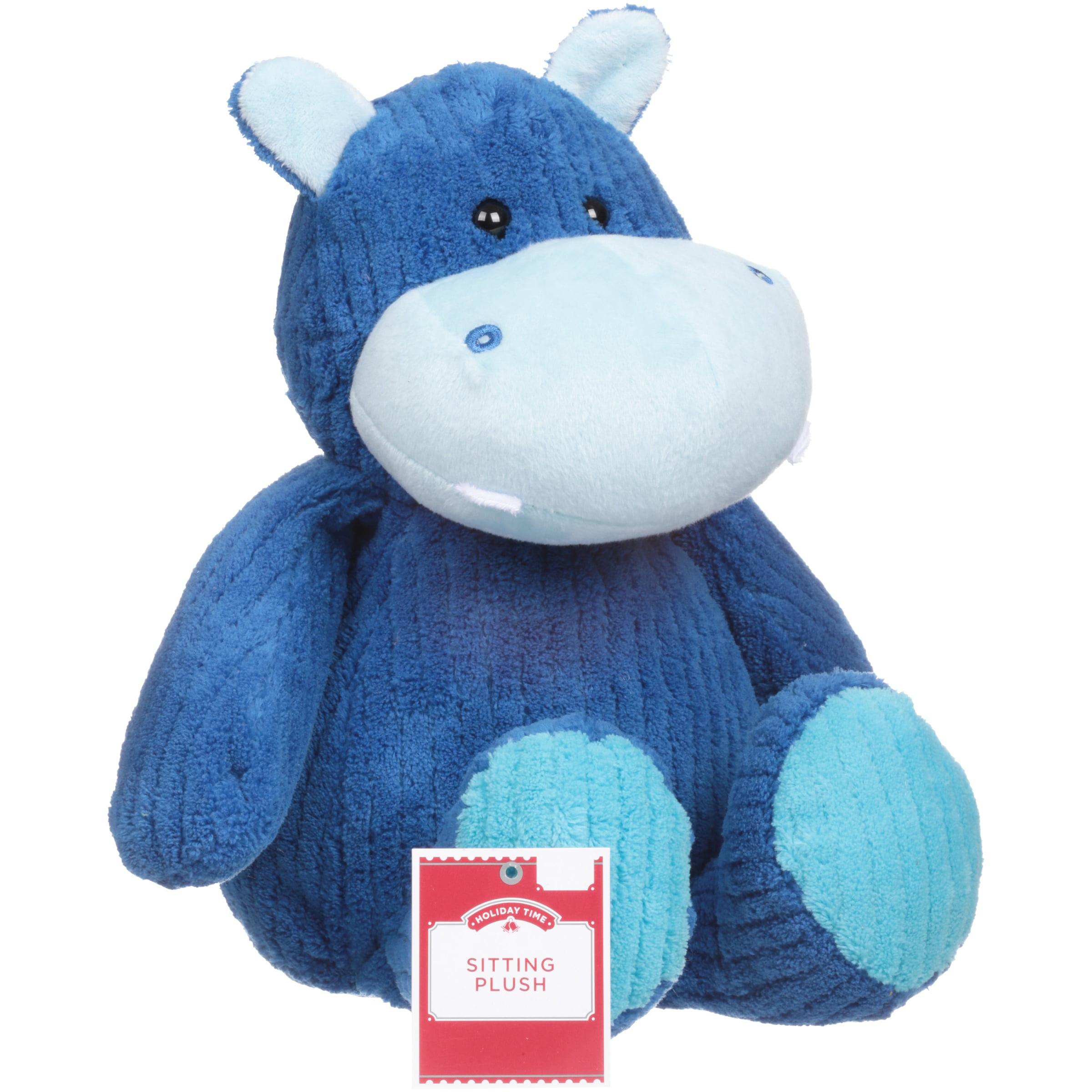 Holiday Time Sitting Plush Hippo Plush Toy - Walmart.com