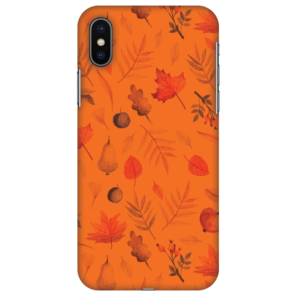 iPhone X Case - Colours of Autumn, Hard Plastic Back Cover. Slim Profile Cute Printed Designer Snap on Case with Screen Cleaning Kit