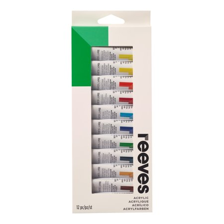 Reeves Acrylic Color Set, 12-Colors