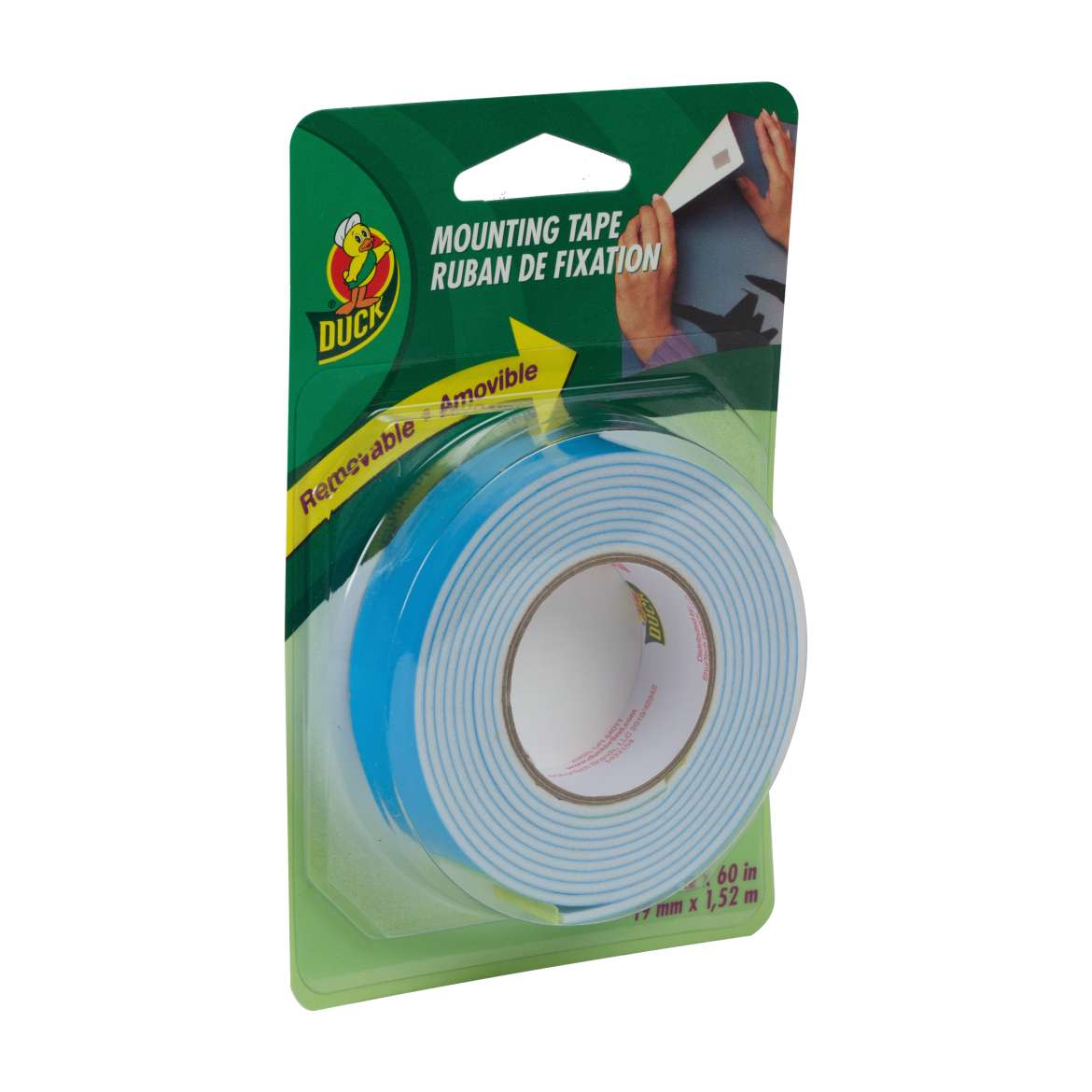 Duck Brand Removable Mounting Tape - White, .75 in. x 60 in.