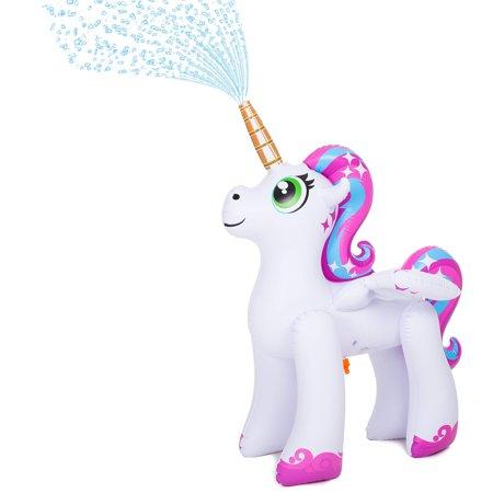 High Supply Inflatable Unicorn Yard Sprinklers, Alicorn/ Pegasus Lawn Sprinkler for Kids, 4 Feet -