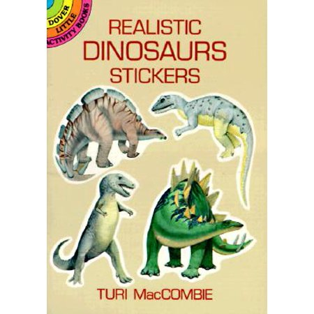 Dover Little Activity Books: Realistic Dinosaurs Stickers (Paperback)