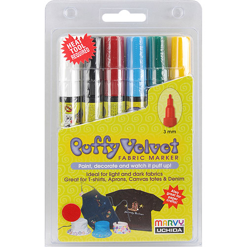 Puffy Velvet Fabric Markers 3mm