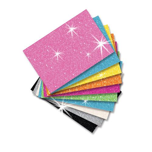 Self-Adhesive Foam Glitter Sheets, 10-Pack