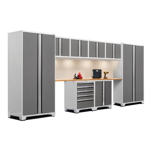 NewAge Products Pro 3.0 Series 10-Piece Garage Storage Cabinet Set with Worktop