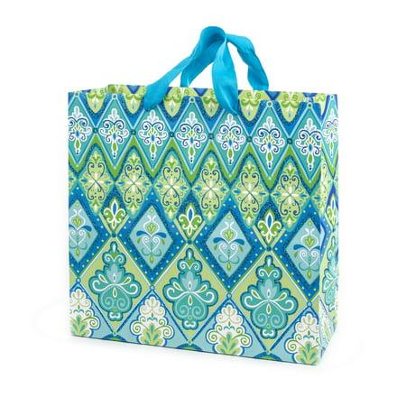 Hallmark Large Square Gift Bag for Birthdays, Bridal Showers, Weddings and More (Floral (Floral Medium Gift Bag)
