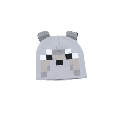 Minecraft Wolf Knit Hat - Walmart.com 4b7da20e1ee
