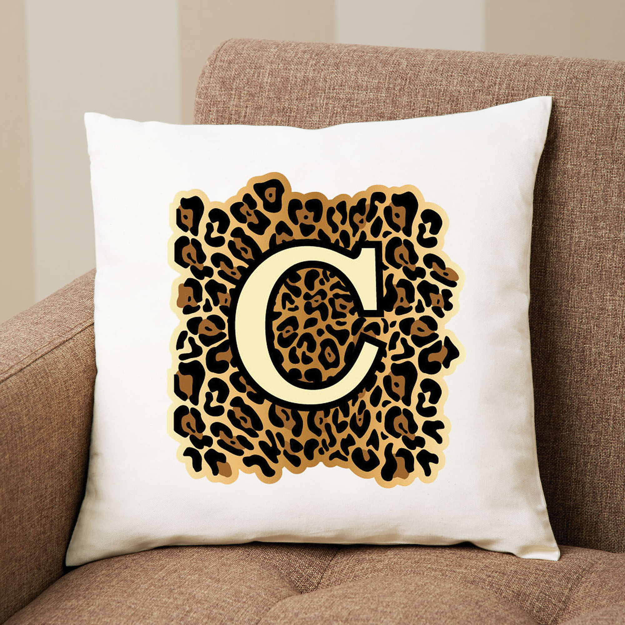 Personalized Leopard Print Pillow