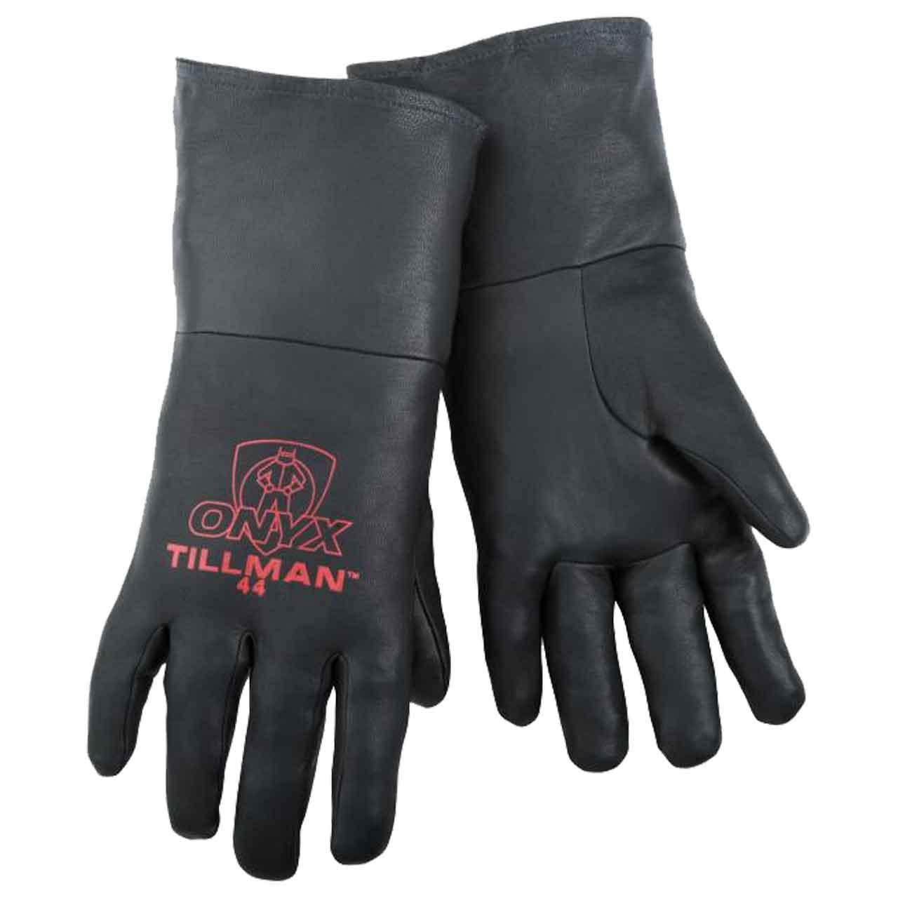 Tillman 44 ONYX 100% Top Grain Black Kidskin TIG Welding Gloves, X-Large