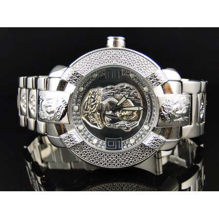 Mens Aqua Master Jesus Face Diamond Watch 96-4 - Master Mens Diamond Watch