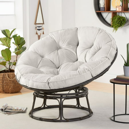 Magnificent Better Homes Gardens Papasan Chair With Fabric Cushion Andrewgaddart Wooden Chair Designs For Living Room Andrewgaddartcom