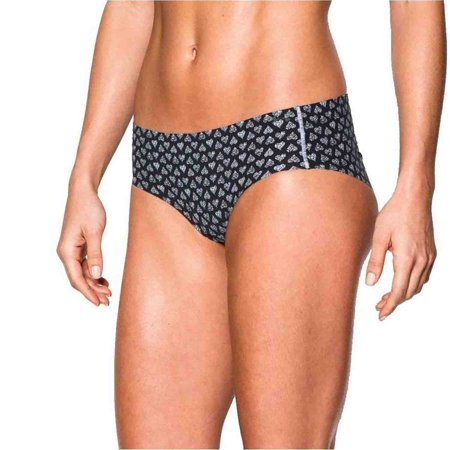 Under Armour Womens Pure Stretch Hipster Panties (Black Heart Print, One -