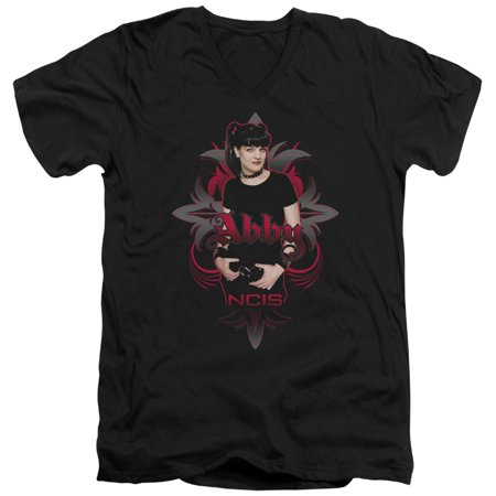 Ncis Cbs Tv Show Abby Gothic Adult V Neck T Shirt Tee