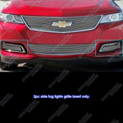 Compatible with 2014-2016 Chevy Impala LTZ Fog Light Cover Billet Grille Insert C65947A