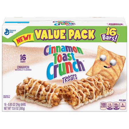 General Mills Cereal Bars - Cinnamon Toast Crunch Treat Bars 16 Count, 0.85 OZ