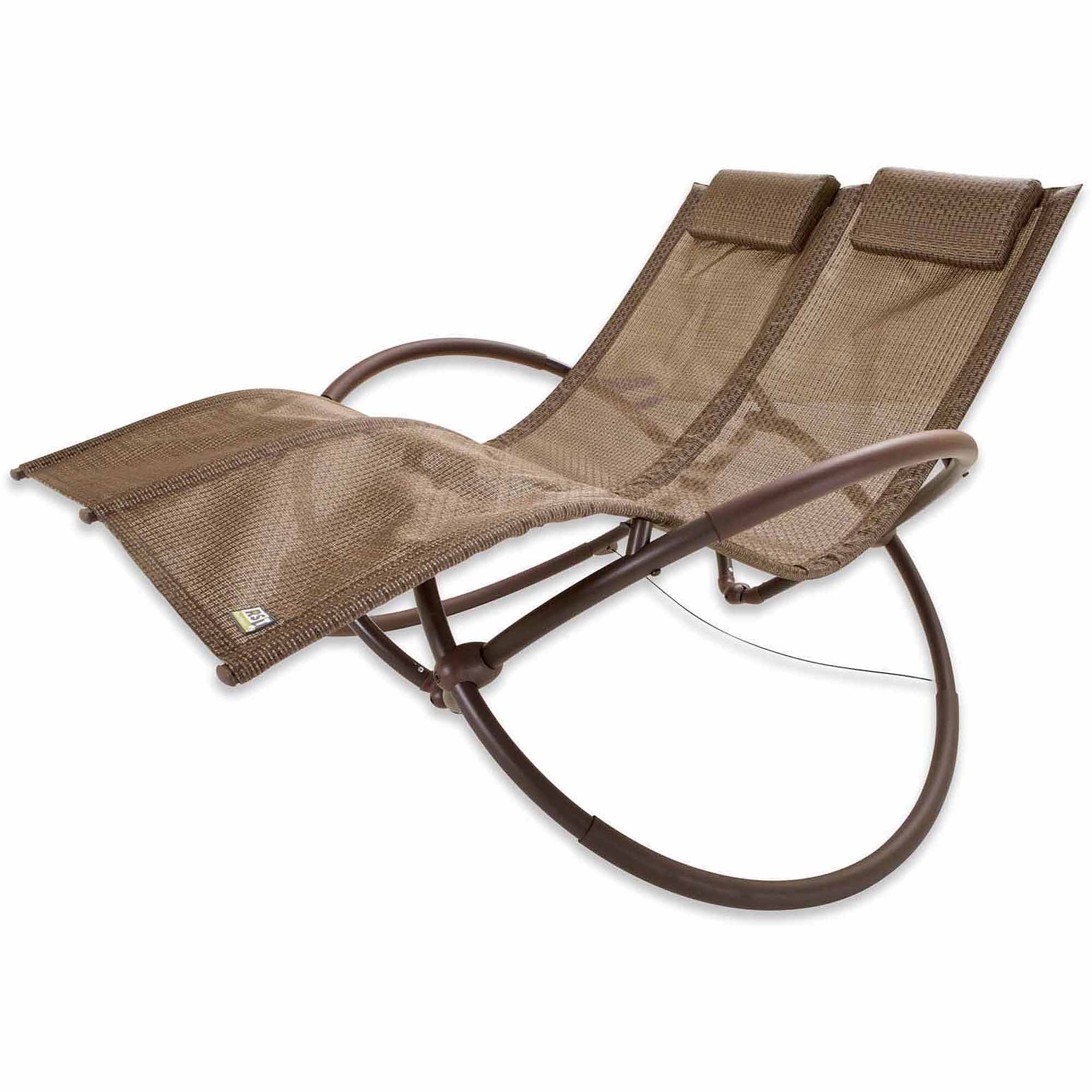 RST Brands Double Orbital Lounger, Brown