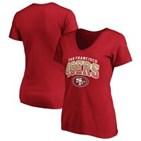 Women's Fanatics Branded Scarlet San Francisco 49ers Faded Arch V-Neck T-Shirt