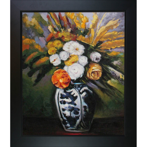 Tori Home Dahlias by Paul Cezanne Framed Original Painting
