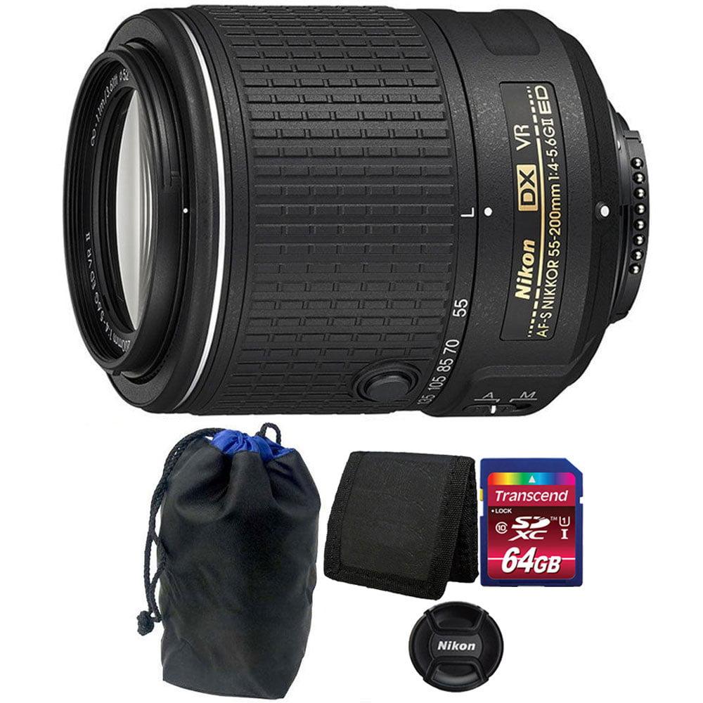 Nikon AF-S DX NIKKOR 55-200MM f/4-5.6G ED VR II Zoom Lens...