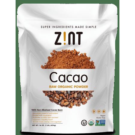 Zint Raw Organic Cacao Powder, 8 Oz. Raw Cacao Bean