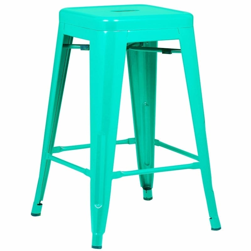 Poly And Bark Trattoria 24 Inch Counter Height Stool Walmartcom