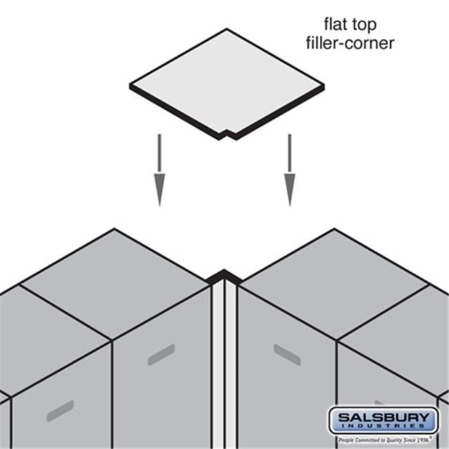 Salsbury 33338GRY Flat Top Filler Corner - For 18 Inch Deep Designer Wood Locker - Gray