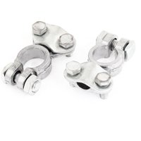 Unique Bargains 2 Pcs Auto Car Metal Battery Terminals Positive Negative Clamps 6V 12V