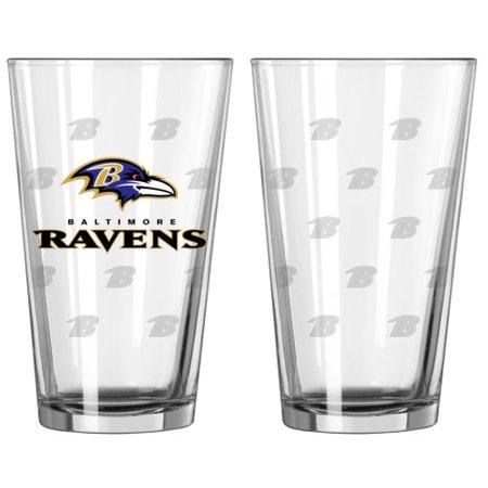 Baltimore Ravens Satin Etch Pint Glass Set - image 1 de 1