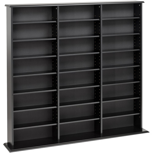 DVD Storage Media Cabinet Home CD VHS Blu Ray Multimedia Wall Unit Tower  Shelf