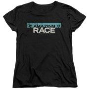 The Amazing Race Bar Logo Womens Short Sleeve Shirt
