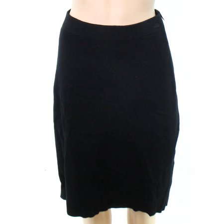 Charter Club NEW Black Womens Size Large L Milano Stretch Knit Skirt - The Club Milano Halloween