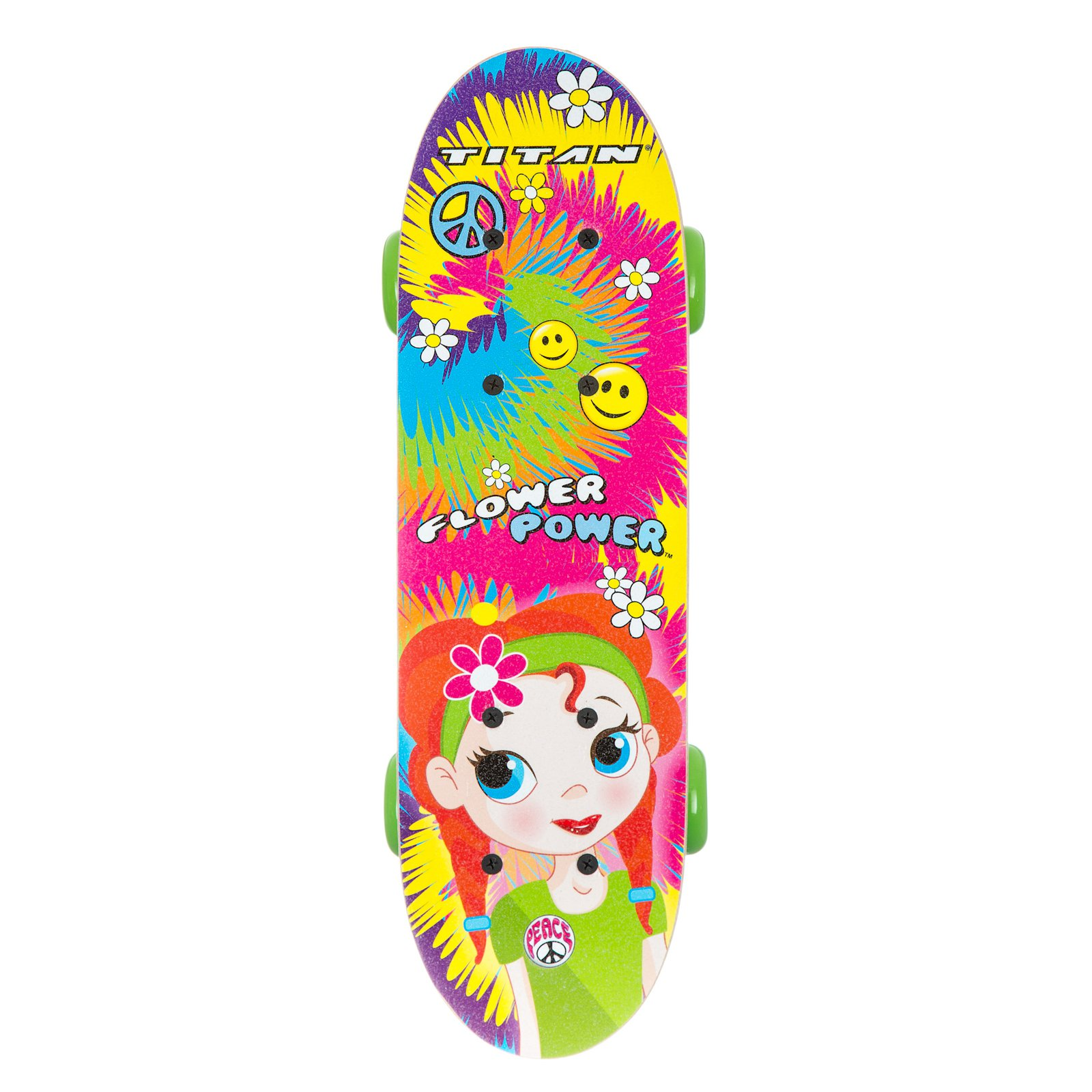 "17"" Titan Flower Power Princess Girls' Complete Skateboard, Multi-Color by Generic"