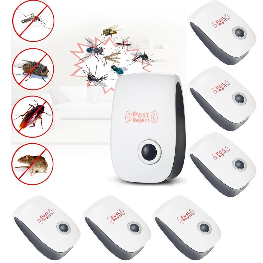 10 PCS Ultrasonic Electronic Anti Mosquito Pest Bug Rat Mouse Repeller Insect Cockroach Reject Control Indoor