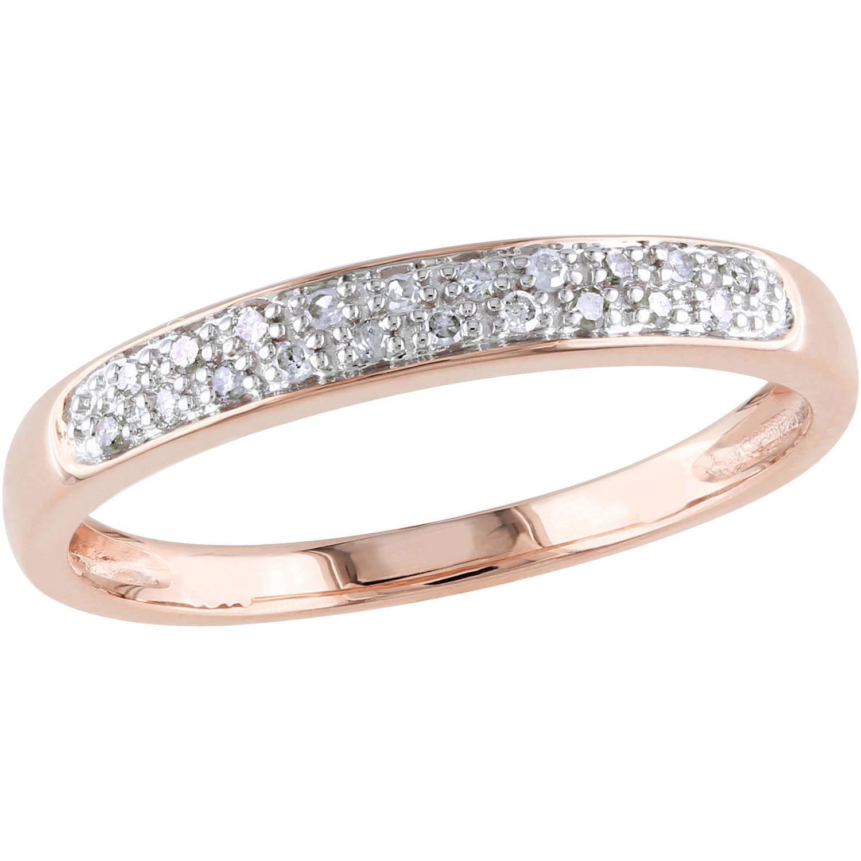 Miabella 1 10 Carat T.W. Diamond 10kt Rose Gold Wedding Band by Delmar Manufacturing LLC