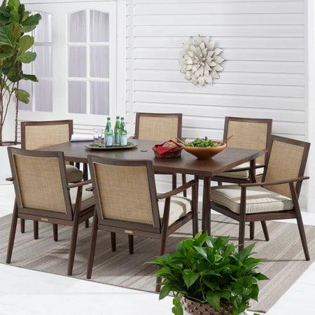Better Homes & Gardens Vaughn 7-Piece outdoor Patio Sling Mesh Dining Set ()