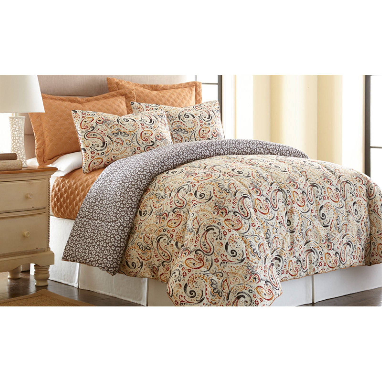 6 Piece Comforter/Coverlet Set - Mavia
