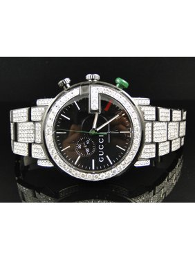 4a832c35529 Product Image Gucci Mens Fully Iced Out Diamond Gucci Watch 12 Ct